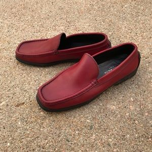 Fieramosca Red Leather Loafers